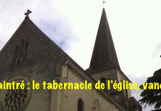 Vienne : un tabernacle de l'église de Naintré, vandalisé