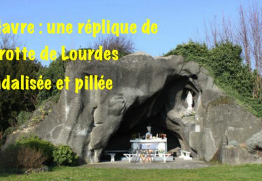 Seine-Maritime : une réplique de la grotte de Lourdes vandalisée et pillée au Havre