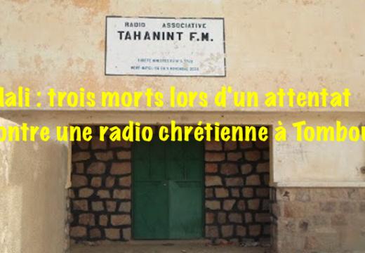 Mali : un attentat contre une radio chrétienne cause trois morts