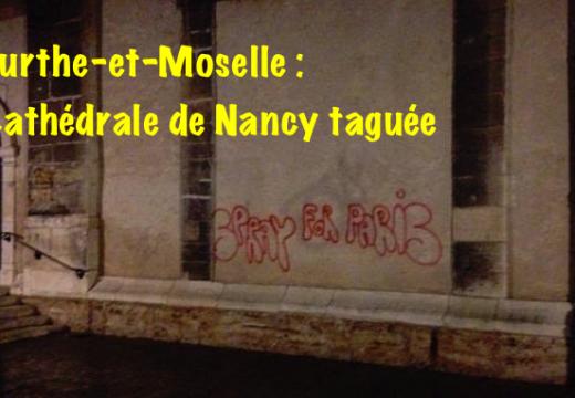 Nancy : la cathédrale taguée