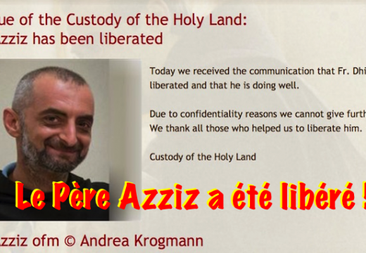 Syrie : le Père Azziz libéré !