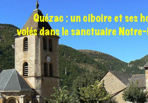 Cantal : vol d'un ciboire et de ses hosties dans l'église de Quézac