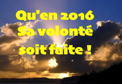 Mes vœux pour 2016…