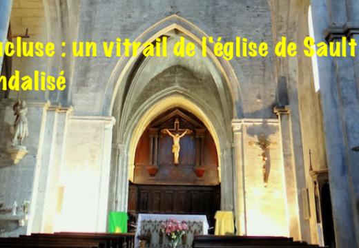 Vaucluse : église vandalisée à Sault
