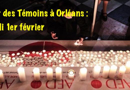 Nuit des Témoins à Orléans : lundi 1er février