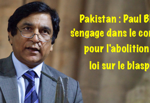 Pakistan : Paul Bhatti rejoint la campagne pour l'abolition de la loi sur le blasphème