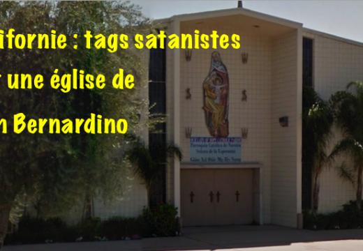 Californie : tags satanistes sur une église de San Bernardino