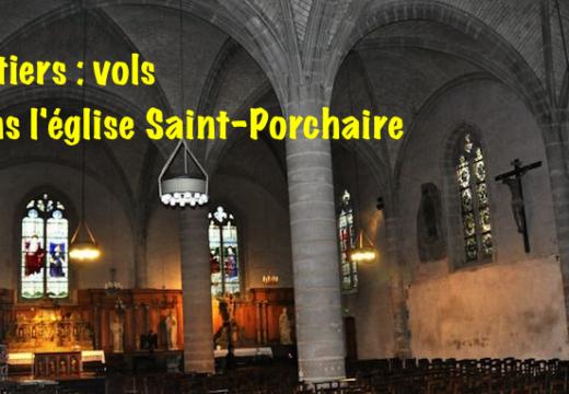 Vienne : vols dans l'église Saint-Porchaire