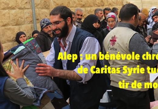 Syrie : un bénévole chrétien de Caritas tué à Alep