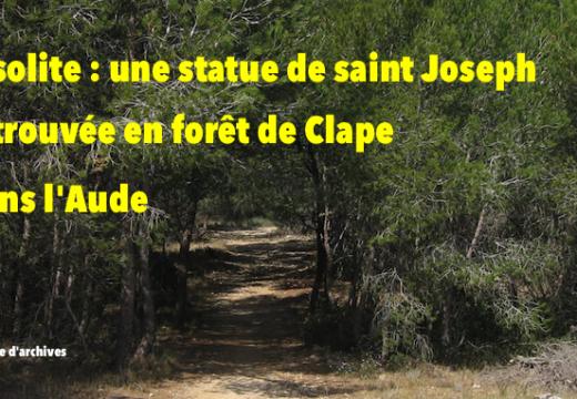 Aude : une statue de saint Joseph retrouvée dans la forêt de Clape
