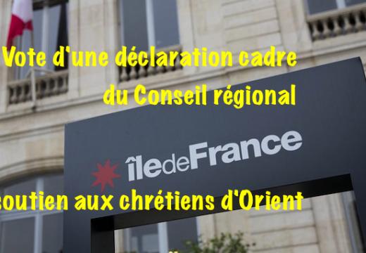 Île-de-France : soutien de la région aux chrétiens d'Orient