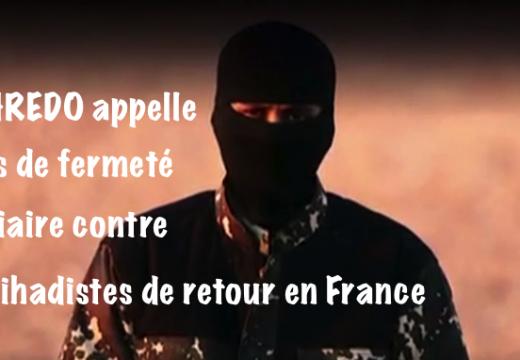 Djihadistes français : la CHREDO appelle à une plus grande fermeté