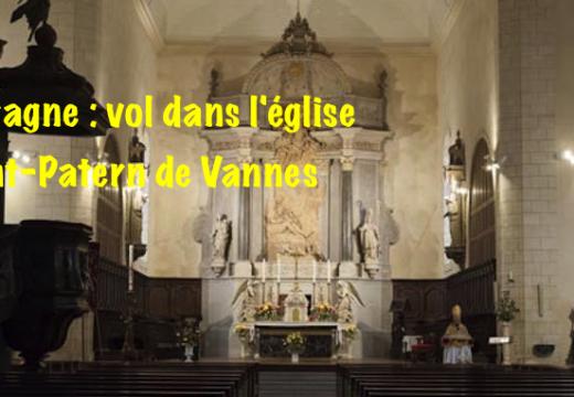 Morbihan : vol dans l'église Saint-Patern de Vannes