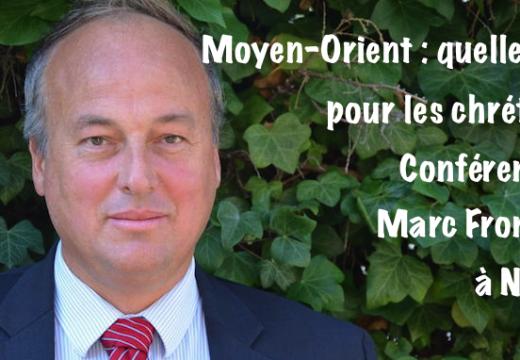 Nantes : conférence de Marc Fromager de l'AED sur les chrétiens d'Orient