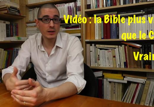 Vidéo : la Bible plus violente que le Coran ?