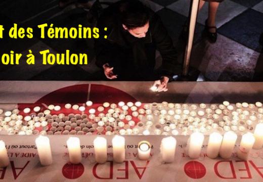 Nuit des Témoins : ce soir à Toulon