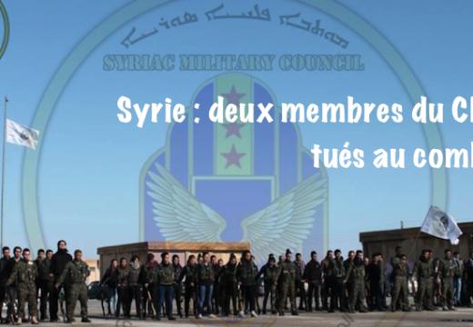 Syrie : deux membres du Conseil militaire syriaque tués au combat