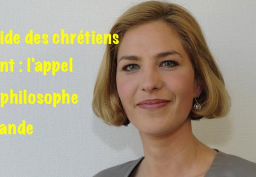 Génocide des chrétiens d'Orient : l'appel d'une philosophe allemande