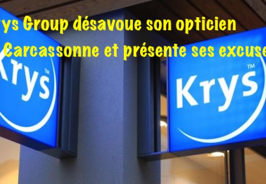 Krys Group désavoue le magasin de Carcassonne et présente ses excuses