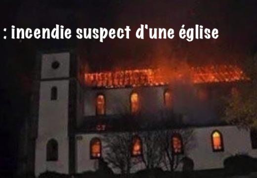 Haïti : incendie suspect d'une église à Dame-Marie