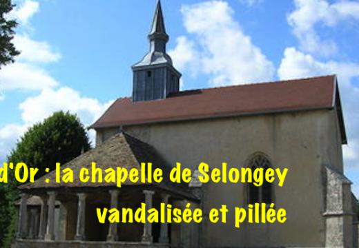 Côte-d'Or : chapelle vandalisée et pillée à Selongey