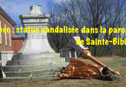 Québec : vandalisme dans la paroisse Sainte-Bibiane