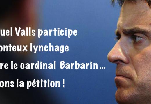 Cardinal Barbarin : la remarque honteuse de Manuel Valls