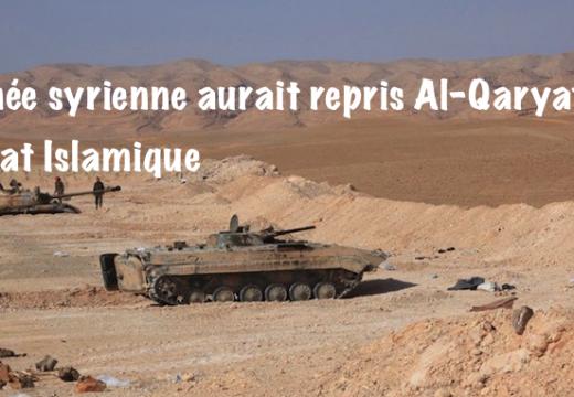 L'Armée syrienne aurait repris la ville de Al-Qaryatayn