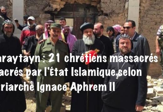 Al-Qaryatain : 21 chrétiens ont été massacrés par l'État Islamique