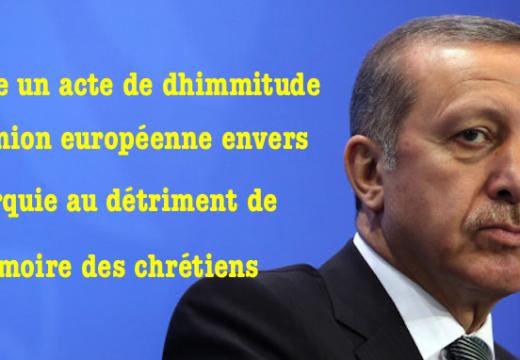 Génocide arménien : l'Union européenne cède à la Turquie