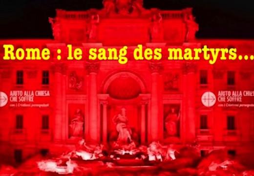 Rome : le sang des martyrs…