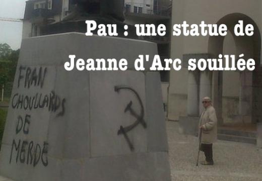 Pau : une statue de Jeanne d'Arc souillée