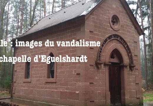 Moselle : images de la chapelle vandalisée à Eguelshardt