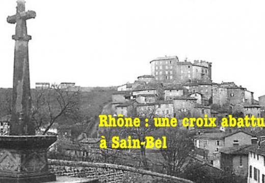 Rhône : une croix abattue à Sain-Bel