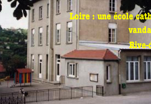 Loire : une école catholique vandalisée à Rive-de-Gier