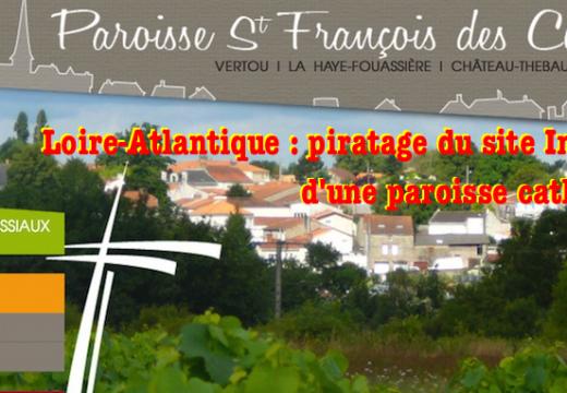 Loire-Atlantique : le site d'une paroisse catholique piraté