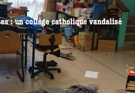 Nantes : un collège catholique vandalisé deux fois en deux semaines