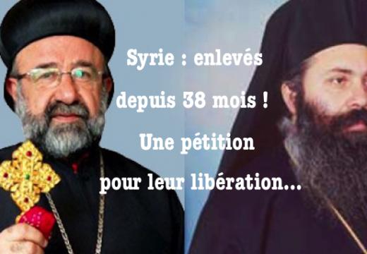 Pétition pour la libération des deux archevêques orthodoxes enlevés en Syrie en avril 2013