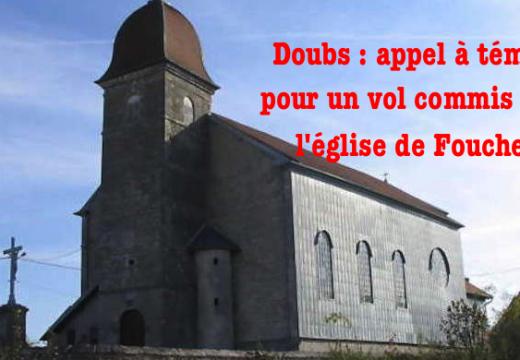 Doubs : vol dans l'église paroissiale de Foucherans