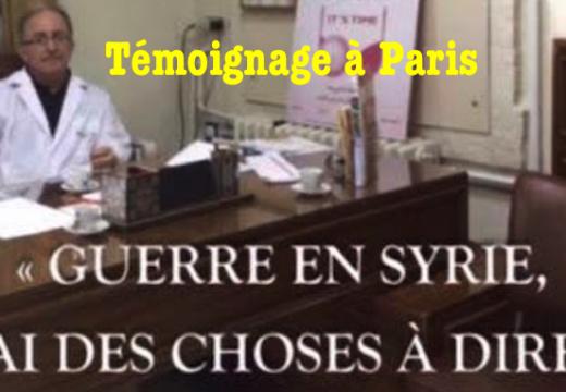 Paris : témoignage du Dr. Elias Lahham sur la situation en Syrie