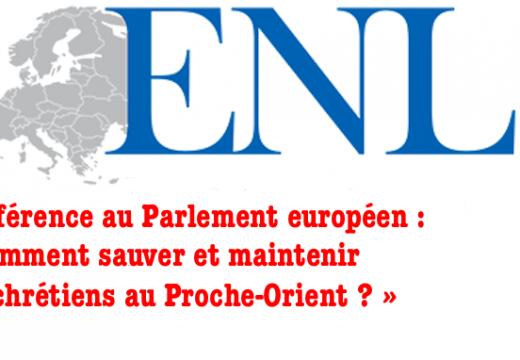 Strasbourg : conférence sur les chrétiens d'Orient au Parlement européen