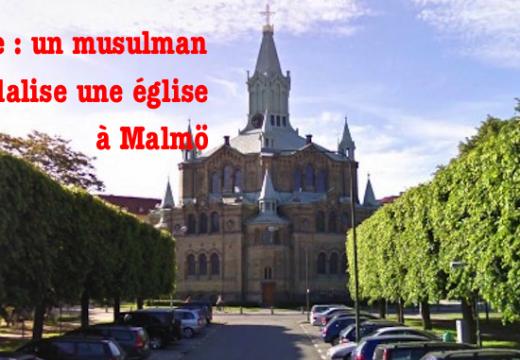 """Suède : aux cris de """"Allahu Akbar"""" un  vandale s'attaque à une église de Malmö"""
