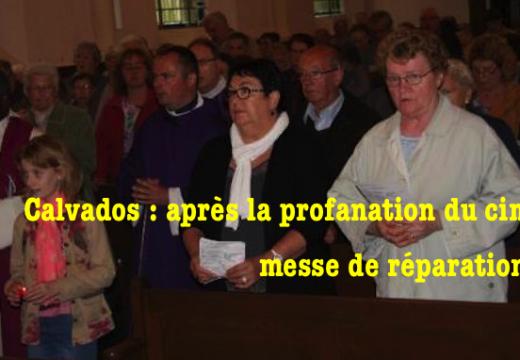 Calvados : messe de réparation après la profanation du cimetière de Vire