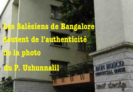 La Province de Bangalore des Salésiens doute de l'authenticité de la photo du P. Uzhunnalil