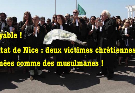 Incroyable ! Deux victimes chrétiennes de l'attentat de Nice inhumées comme des musulmanes…