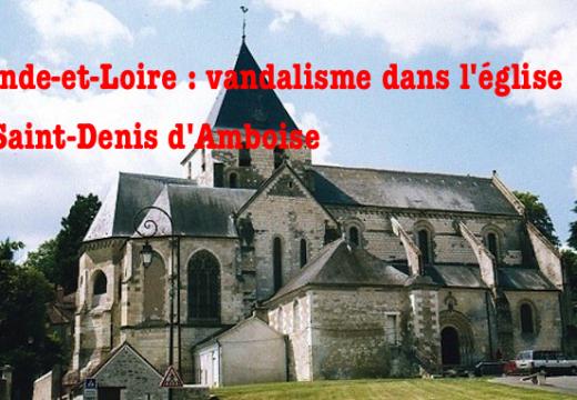 Indre-et-Loire : vandalisme dans une église d'Amboise