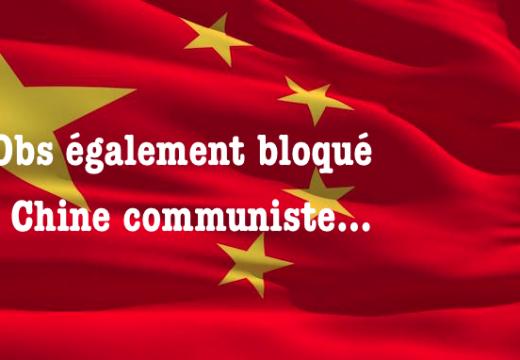 L'Observatoire également bloqué en Chine communiste