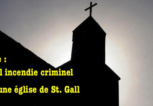 Suisse : nouvel incendie criminel dans une église de St-Gall