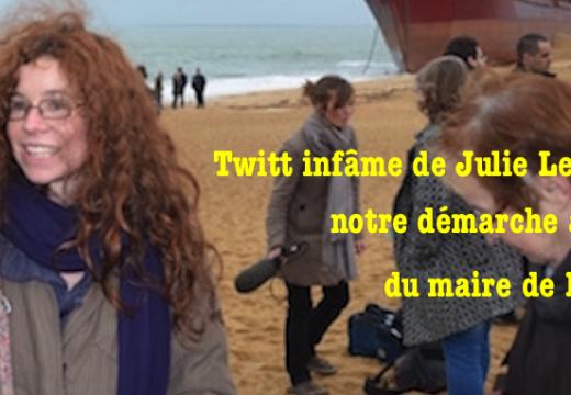 """""""Affaire Julie Le Goïc"""" : je viens d'écrire au maire de Brest, faites-en autant !"""