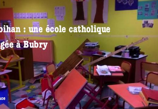 Morbihan : une école privée catholique dévastée à Bubry